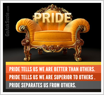 pride is the seat of the ego