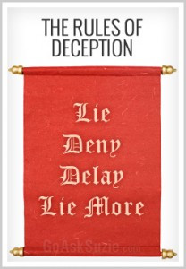 the rules of deception