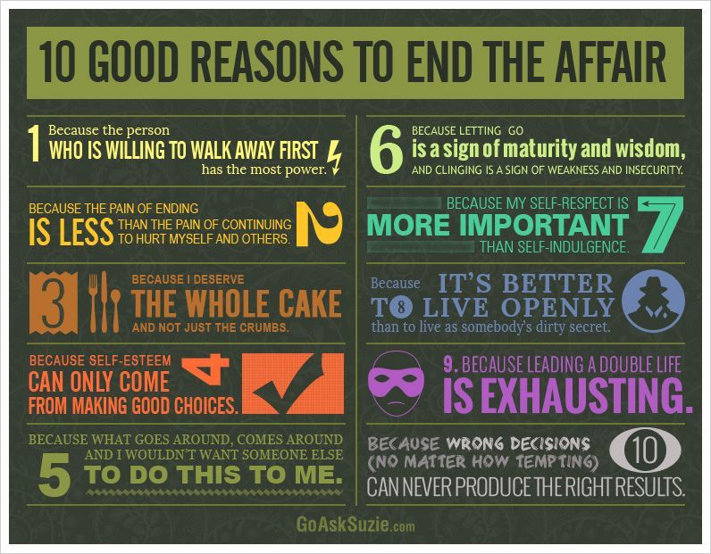 10 Good Reasons to End The Affair